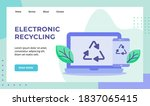electronic recycling green leaf ... | Shutterstock .eps vector #1837065415