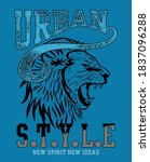 urban style with angry male... | Shutterstock .eps vector #1837096288