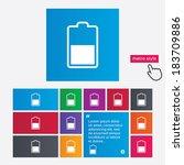 battery half level sign icon.... | Shutterstock .eps vector #183709886