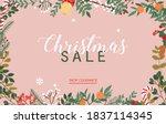 christmas sale banner. winter... | Shutterstock .eps vector #1837114345