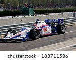 Birmingham Alabama USA - April 10, 2011: 3 Helio Castroneves, Brazil Team Penske Sponsor AAA Insurance - stock photo