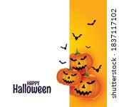 happy halloween with scary... | Shutterstock .eps vector #1837117102