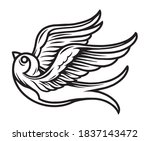 vintage tattoo concept of... | Shutterstock .eps vector #1837143472