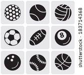 set of sports balls | Shutterstock .eps vector #183714368