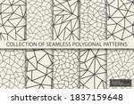 collection of polygonal... | Shutterstock .eps vector #1837159648