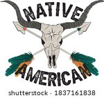 tribal native american western... | Shutterstock .eps vector #1837161838