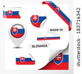 made in slovakia collection of...   Shutterstock .eps vector #183716342