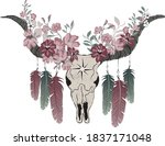 tribal native american western... | Shutterstock .eps vector #1837171048