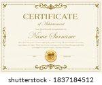 certificate of achievement... | Shutterstock .eps vector #1837184512