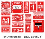 fire emergency signs vector...   Shutterstock .eps vector #1837184575
