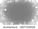 snowflakes and snow glitter... | Shutterstock .eps vector #1837194028
