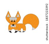 stylized red fox. character... | Shutterstock .eps vector #1837223392
