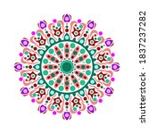 this is a work of mandala art... | Shutterstock .eps vector #1837237282