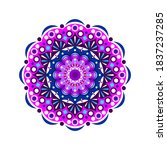 this is a work of mandala art... | Shutterstock .eps vector #1837237285