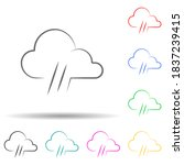 weather sign rain multi color...
