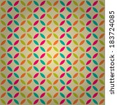 seamless geometric pattern with ... | Shutterstock .eps vector #183724085