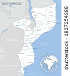 blue gray detailed map of... | Shutterstock .eps vector #1837254388