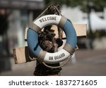 A Safety Buoy Or Life Buoy For...