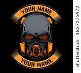 simple mask logo vector  vector ... | Shutterstock .eps vector #1837275472