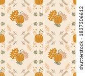 autumn bright seamless pattern... | Shutterstock .eps vector #1837306612