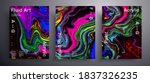 abstract liquid banner  fluid... | Shutterstock .eps vector #1837326235