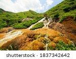 Golden Waterfall A Famous...