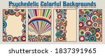 psychedelic colorful... | Shutterstock .eps vector #1837391965