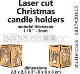 laser cutting pattern laser... | Shutterstock .eps vector #1837420615