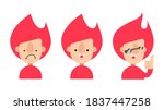 character icon with red hair | Shutterstock .eps vector #1837447258