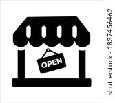open shop icon on white... | Shutterstock .eps vector #1837456462