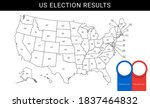 us election map. american... | Shutterstock .eps vector #1837464832