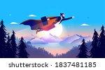 superhero businessman   man...   Shutterstock .eps vector #1837481185
