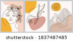 set of creative hand painted... | Shutterstock .eps vector #1837487485