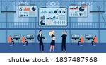 business people working in... | Shutterstock .eps vector #1837487968