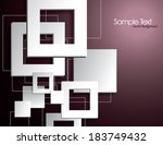 background with 3d squares. | Shutterstock .eps vector #183749432