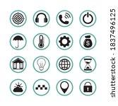 16 smartphone web icons  symbol ... | Shutterstock .eps vector #1837496125