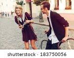 young funny pretty fashion... | Shutterstock . vector #183750056