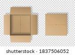 realistic cardboard box set ... | Shutterstock .eps vector #1837506052