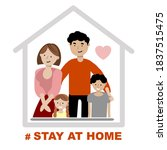 a family with children is... | Shutterstock .eps vector #1837515475