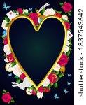 wonderland background. red ...   Shutterstock .eps vector #1837543642