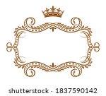 vignette frame borders with... | Shutterstock .eps vector #1837590142