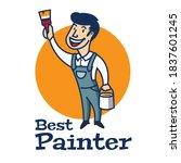 Painter Mascot Character Logo...