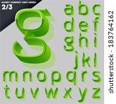 vector alphabet of simple 3d... | Shutterstock .eps vector #183764162