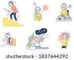 a set of various senior... | Shutterstock . vector #1837644292