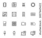 computer microchip line icons...   Shutterstock .eps vector #1837665622