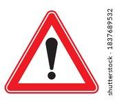traffic  road sign. attention... | Shutterstock .eps vector #1837689532