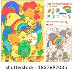 find the hidden objects. hen ... | Shutterstock .eps vector #1837697035