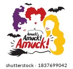 halloween quote on white...   Shutterstock .eps vector #1837699042