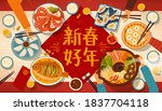 greeting banner for reunion... | Shutterstock .eps vector #1837704118