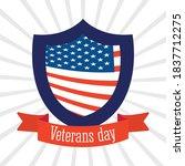 happy veterans day  american... | Shutterstock .eps vector #1837712275